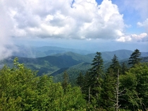 A view from the highest point in Great Smoky Mountains National Park Clingmans Dome TN