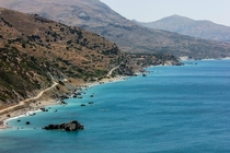 A View From the Hike to Preveli Beach Crete Greece