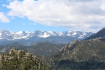 A View from the Mountainside Rocky Mountain National Park   x