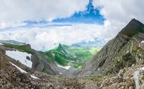 A view from the Swiss Alps near the summit of the Faulhorn