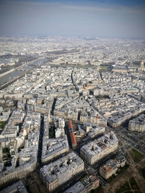 A view from the third floor of the Eiffel Tower Paris
