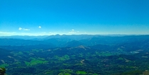 A view from the top of a mountain in the Basque Country