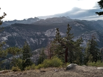 A view I saw while heading down to Devils Postpile in Mammoth Mountain