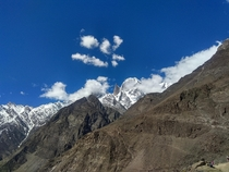 A View of Lady Finger Peak of Hunza Valley Pakistan
