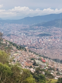 A view of Medelln Colombia from the Metro Cable