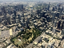 A view of Melbourne from the sky on a private flight a friend took me on Such a gorgeous city