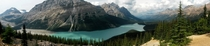 A view of Peyto Lake from Bow Summit - The highest point along the Columbia Icefields Parkway Canada