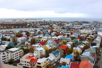 a view of Reykjavik Iceland