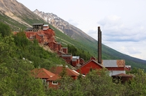 A view of the abandoned buildings of Kennecott Mines inside Alaskas WrangellSt Elias National Park and Preserve