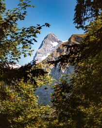 A view of the Eiger from my last day backpacking through the Swiss Alps