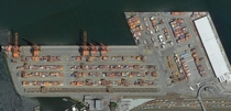 A view of The Port of Vancouver BC from above