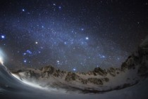 A view of the stars over the central Japanese Alps