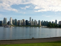 A view of Vancouver form Stanley Park