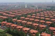 A view of villas built for residents in the Huaxi village of Jiangyin Jiangsu Province Sean Yong