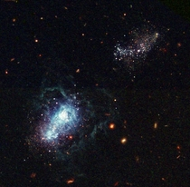 A view of what may be the youngest galaxy ever seen