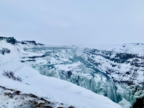 A view that had to be earned The freezing wind was at a level I have never experienced before It was worth it Gullfoss Iceland