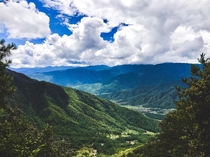 A viewpoint half way on a hike in Bhutan on September nd