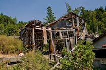 A visit to a dilapidated quicksilvermercury mine in Northern California OC x
