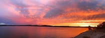 A vivid sunset in Branson MO at Table Rock Lake