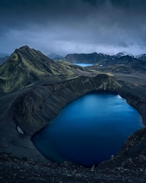 A volcanic lake in the Highlands of Iceland  Instagram holysht