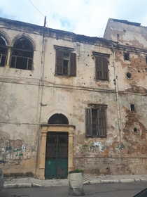 A war-torn and abandoned building in Beirut