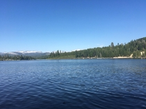 A warm summer day at Ice House Lake CA