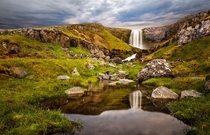 A waterfall just south of Rif Iceland  photo by Siggi B x-post rIsland