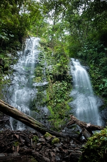 A waterfall near my universitys remote research station Childrens Eternal Rain Forest Costa Rica  by kevinapereira