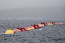 A wave power plant in the Orkney Islands UK