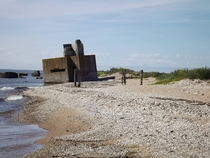 A weathered old bunker sinking into the sea - Sre Estonia
