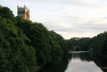 A weir on the Wear by Durham Cathedral