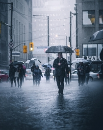 A wet day in Torontos downtown core