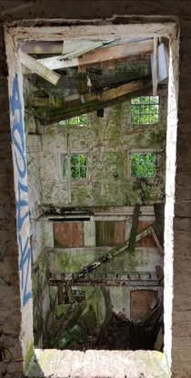 A window through time abandoned flour mill England sorry if the resolutions low I had to fish this one out from the archive