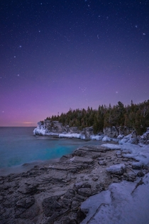 A windy and cold starry evening Bruce Peninsula National Park Canada  Social mikemarkov