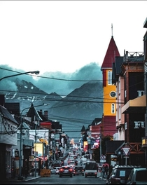A windy and isolated city lost in the south Ushuaia Argentina