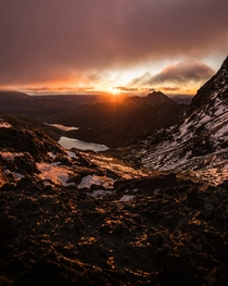 A Winter Sunrise at Snowdon Wales