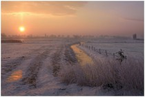 A wintermorning in Belgium