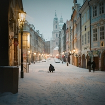 A winters day in Prague  Photographed by Mami WI