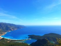 A wonderful wiev of Mediterranean after climbing about  feets Blue Lagoon and Butterfly Valley Turkey