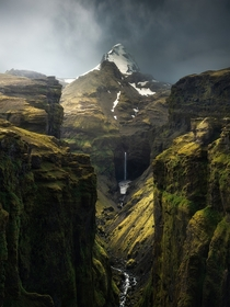 A world in which elves exist and magic works - Mlagljfur Canyon Iceland BY Arnar Kristjansson