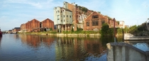 Abandon Dock Warehouse Panorama Gloucester Docks UK