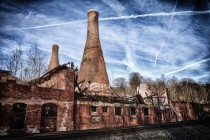 Abandon glass factory in Pennsylvania  x