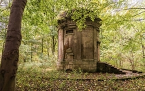 Abandon Mausoleum in enchanted forest