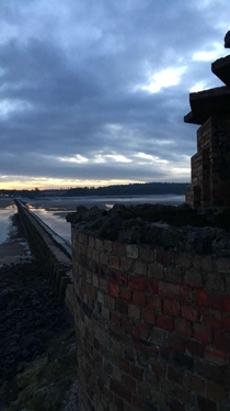Abandon WWII fortifications on Cramond Island
