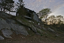 Abandonded House on a Hill in Rhode Island