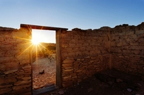Abandoned Adobe Building at Sunset Terlingua TX