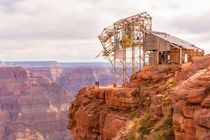 Abandoned aerial tramway Grand Canyon USA