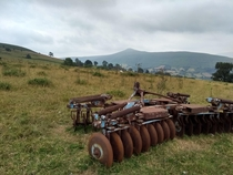 Abandoned agricultural equipment rusted up
