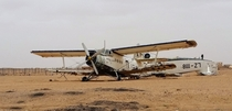 Abandoned aircraft at the airport in Agadez Niger