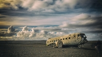 Abandoned Aircraft  Black Sand Beach Iceland
